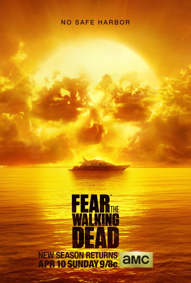 Pôster americano da 2ª temporada de Fear the Walking Dead