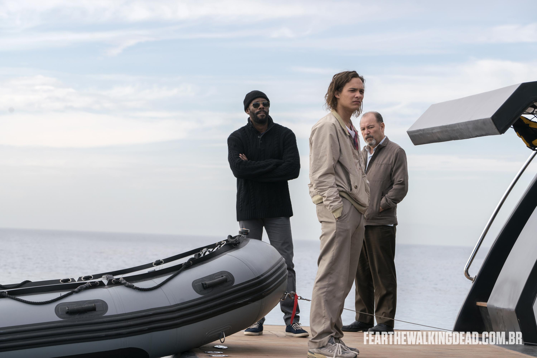 """Victor Strand, Nick Clark e Daniel Salazar - Fear the Walking Dead S02E01 - """"No Safe Harbor"""""""