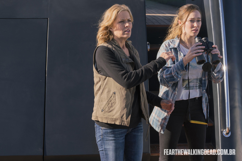 """Madison Clark e Alicia Clark - Fear the Walking Dead S02E01 - """"No Safe Harbor"""""""
