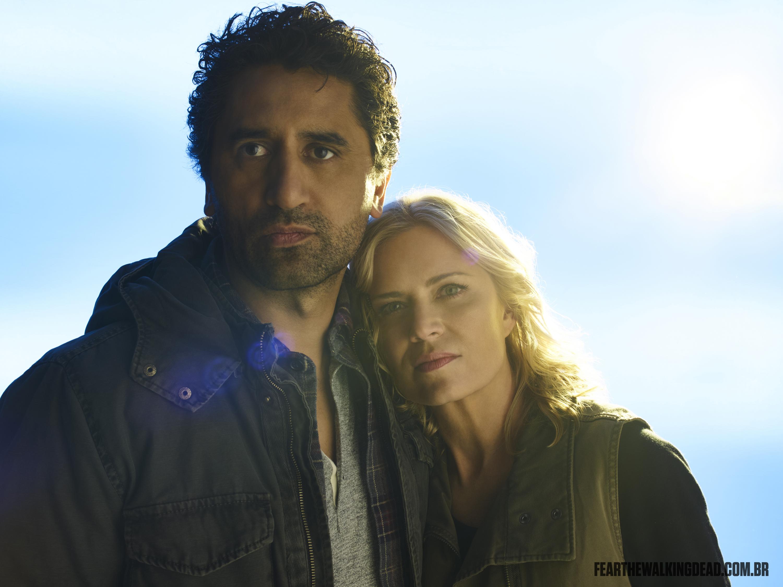 Kim Dickens e Cliff Curtis como Madison Clark e Travis Manawa - 2ª Temporada de Fear the Walking Dead