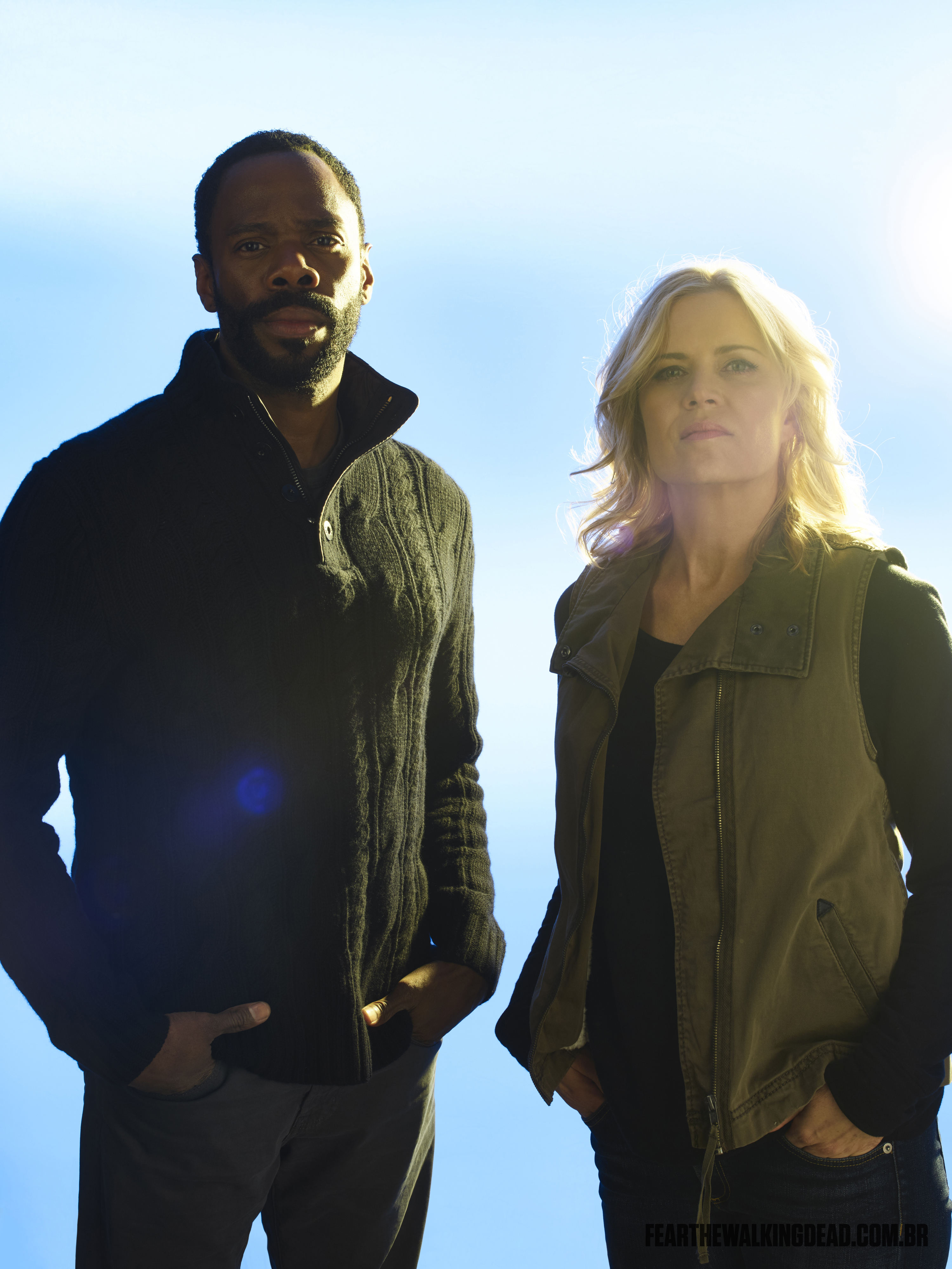 Kim Dickens e Colman Domingo como Madison Clark e Victor Strand - 2ª Temporada de Fear the Walking Dead