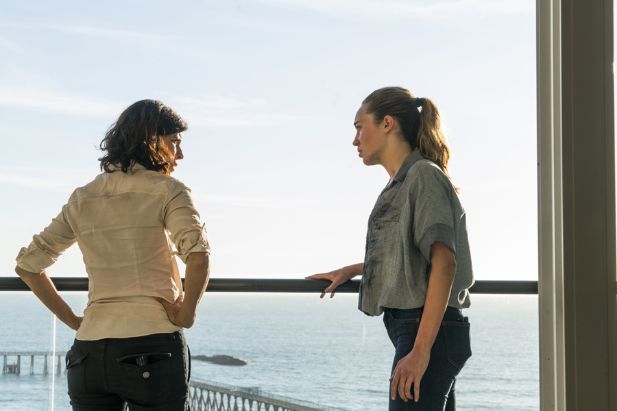 Alycia Debnam-Carey as Alicia Clark, Karen Bethzabe as Elena Tobar - Fear The Walking Dead _ Season 2, Episode 10 - Photo Credit: Richard Foreman Jr/AMC