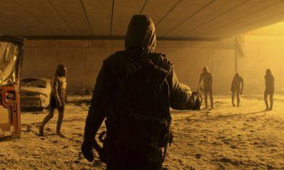 Sobrevivente desconhecido enfrenta zumbis radioativos em cena do trailer da 7ª temporada de Fear the Walking Dead.